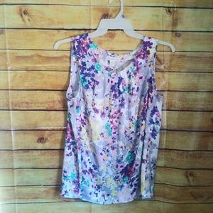 Coldwater Creek Sleeveless Floral Blouse